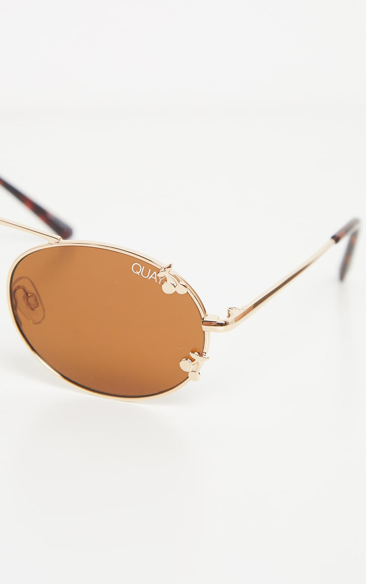 QUAY AUSTRALIA X FINDERS KEEPERS Gold Frame Brown Lens Sunglasses 5