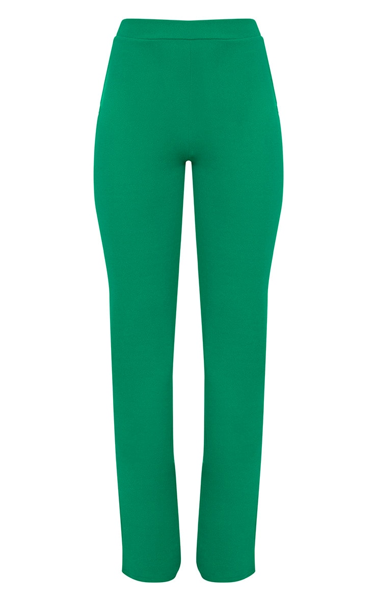 Green Straight Leg Suit Trousers 3