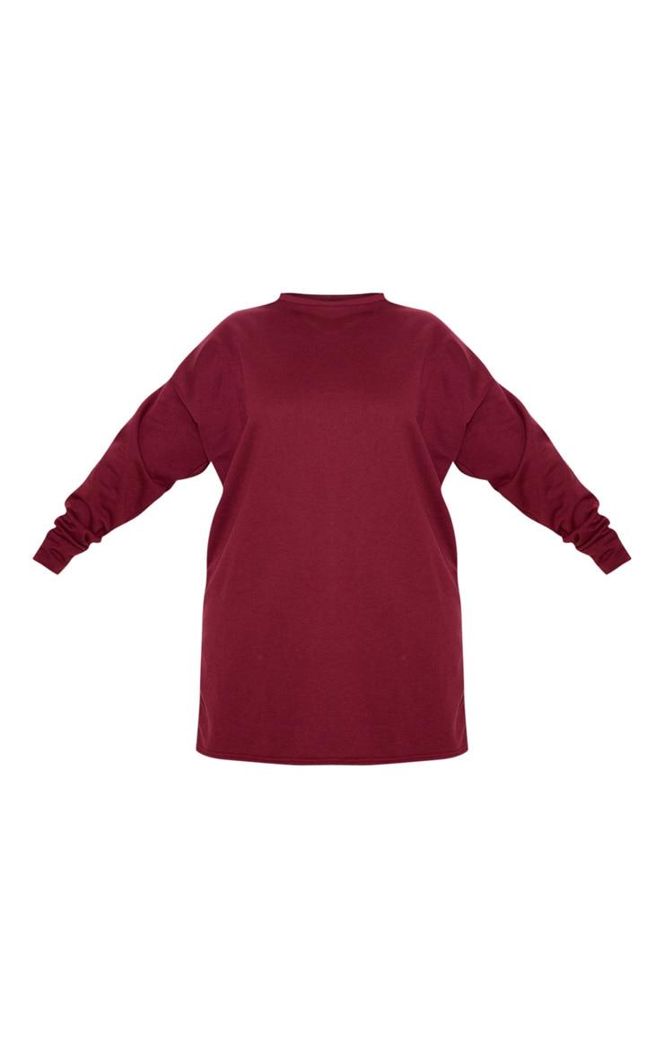 Plus Burgundy Oversized Sweater Dress 3