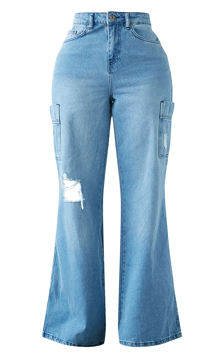 Shape Vintage Pocket Detail Wide Leg Jeans 5
