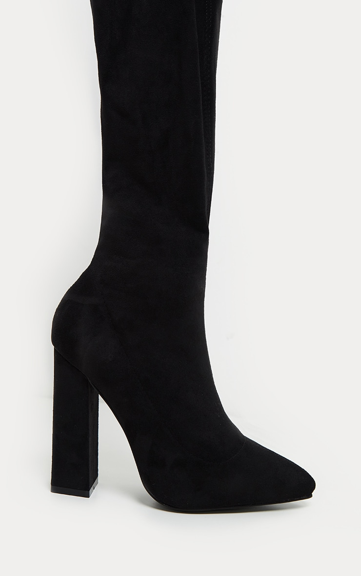 Black Point Block Heel Over The Knee Boot 3