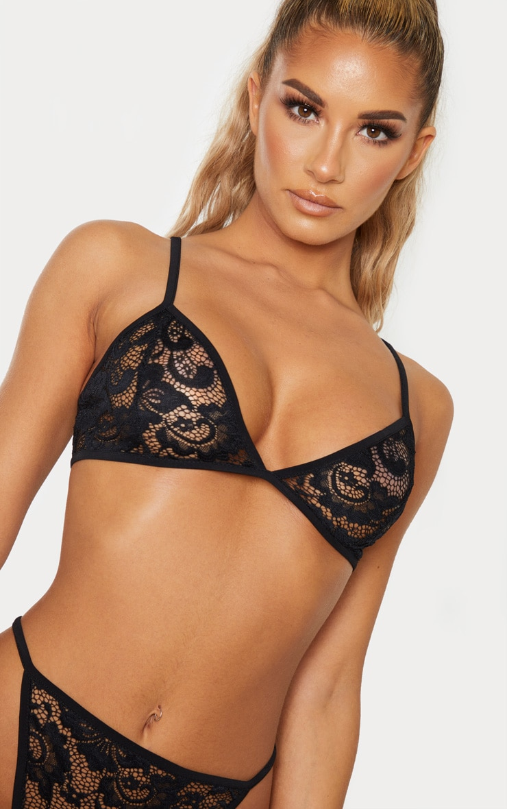 Basic Black Lace Lingerie Set 6