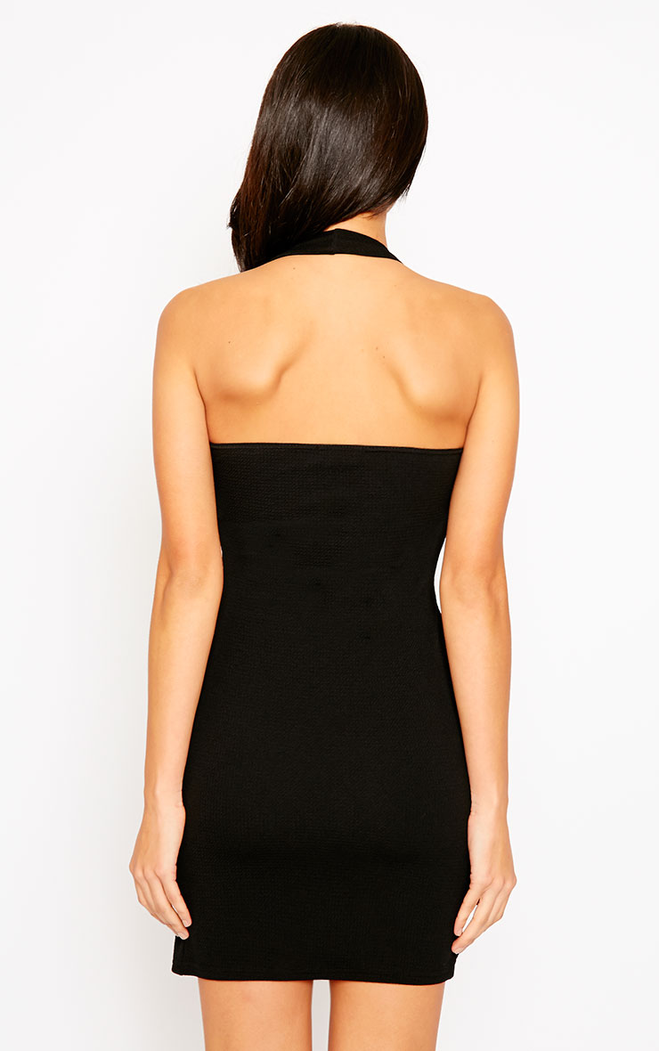 Maggie Black Halterneck Dress 2