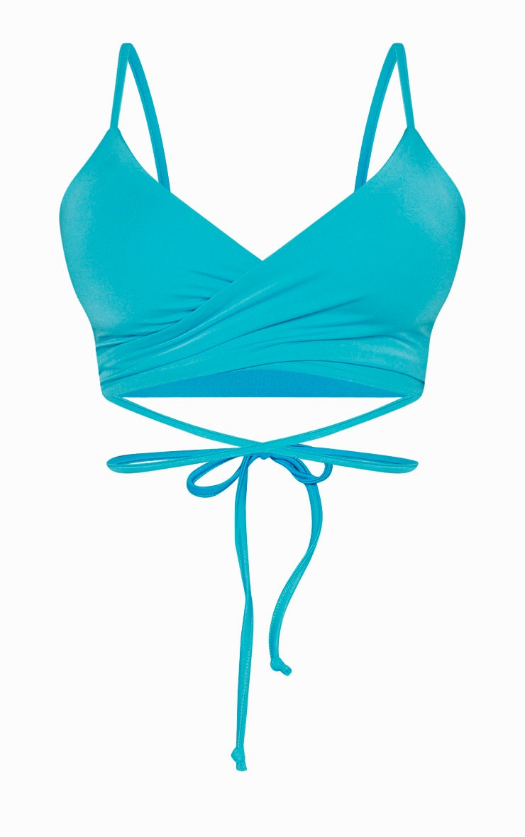 Shape Aqua Wrap Waist Detail Bikini Top 3