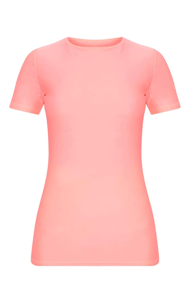 Pink Basic Short Sleeve Gym Top 3