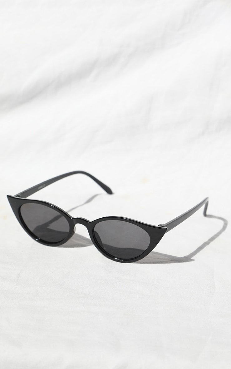 Black Cat Eye Sunglasses 2