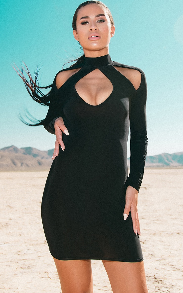 Up sleeve bodycon long arm dresses plus size leather