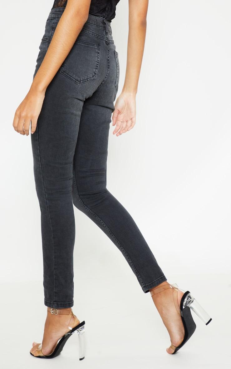 Charcoal Grey 5 Pocket Skinny Jean 4