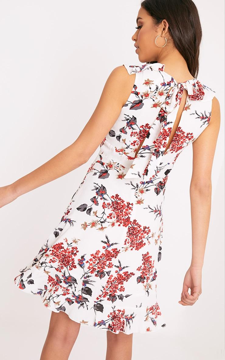 Astrid White Floral Printed Midi Dress 2