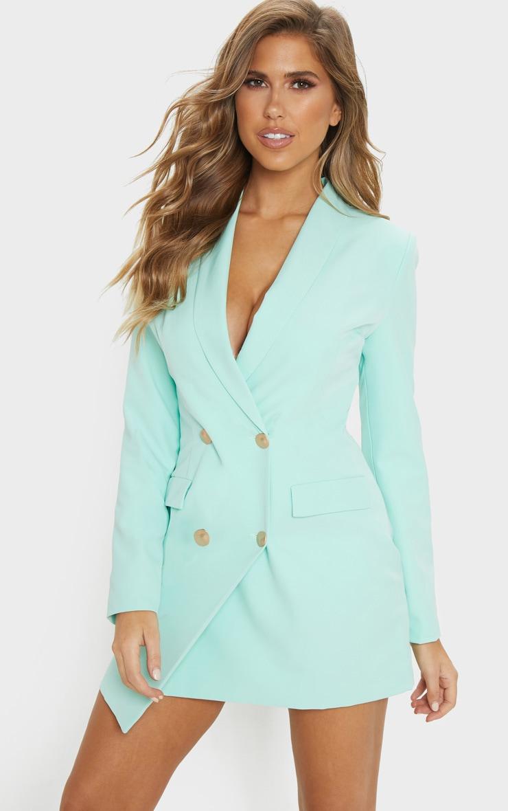 Mint Gold Button Blazer Dress 1