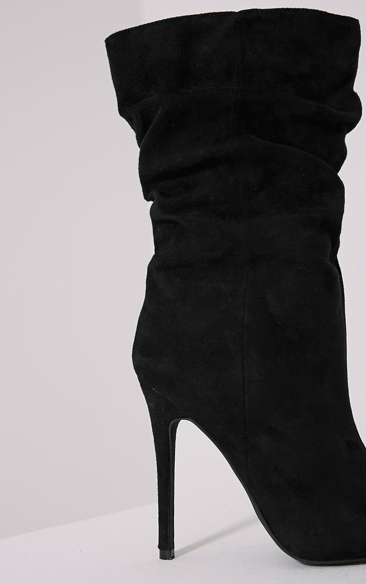 Loordes Black Heeled Calf Boots 6