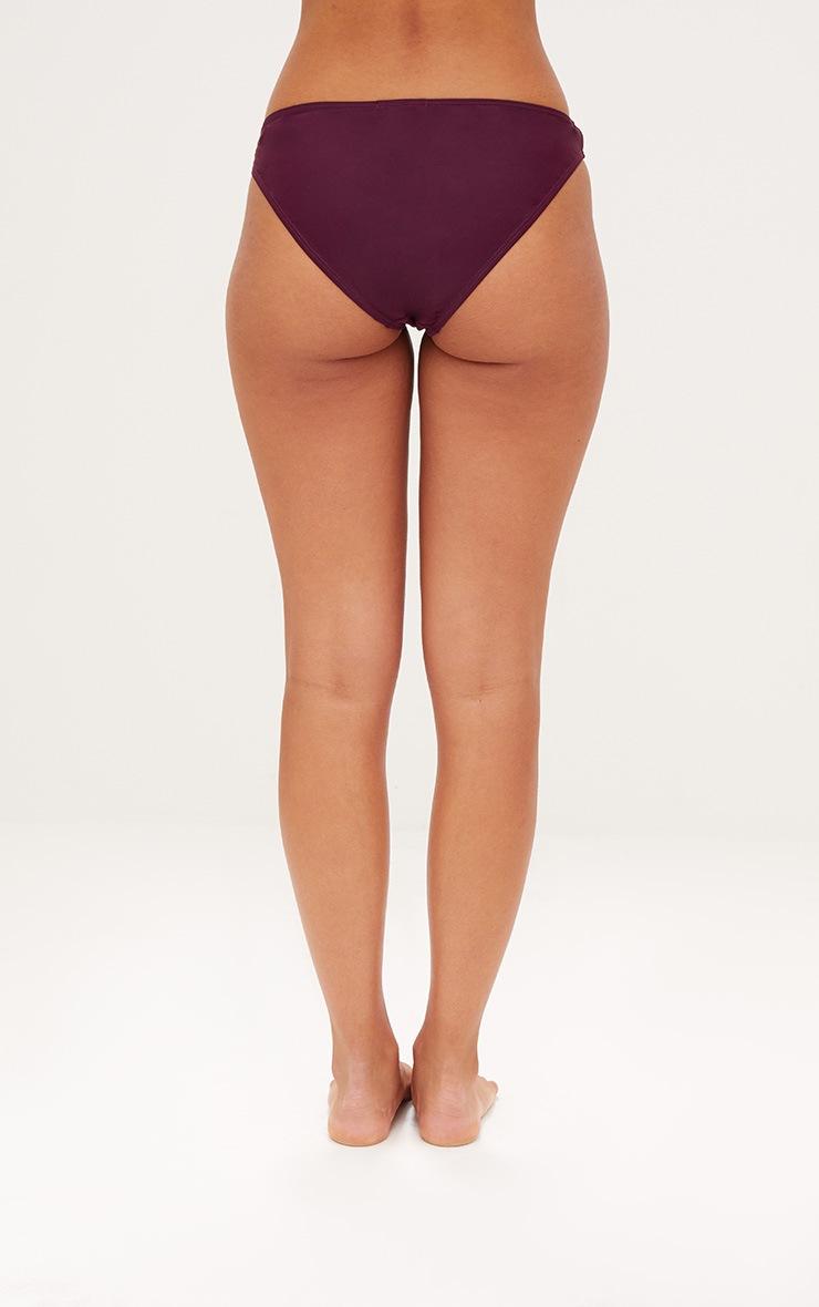 Mix & Match Plum High Leg Bikini Bottoms 4