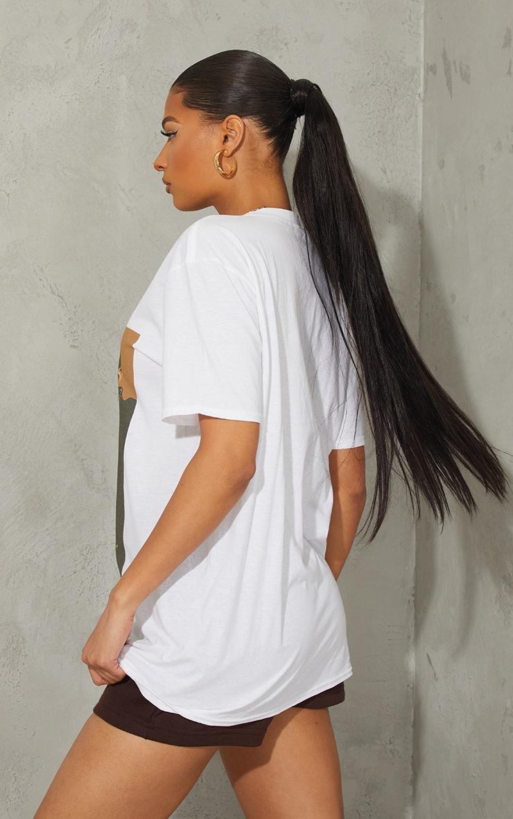 T-shirt oversize blanc à imprimé photo Notorious BIG 2