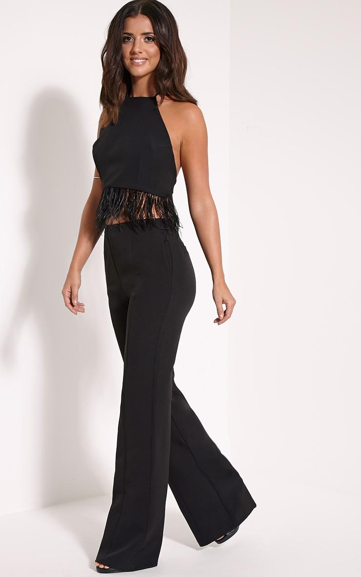 Emmaline Black Flared Trousers 1