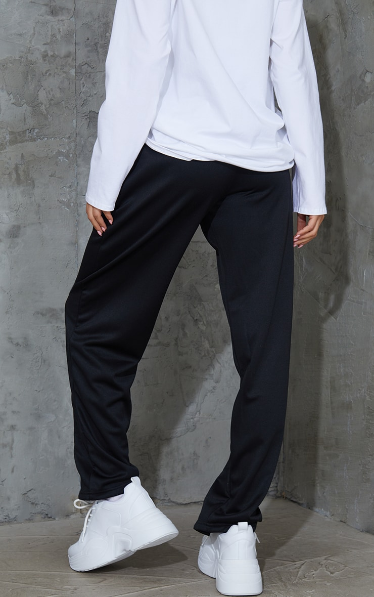 Black Popper Front Track Joggers 3