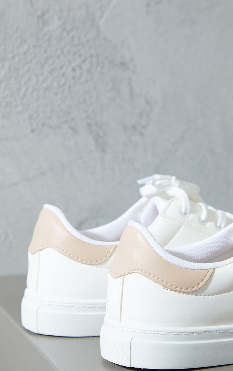 Sand Lace Up Panel Sneakers 3