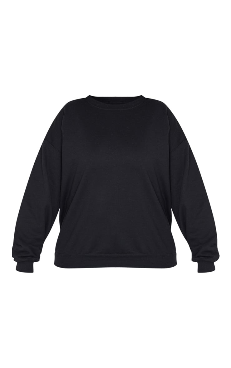 Plus Black Calabasas Print Oversized Sweater 3