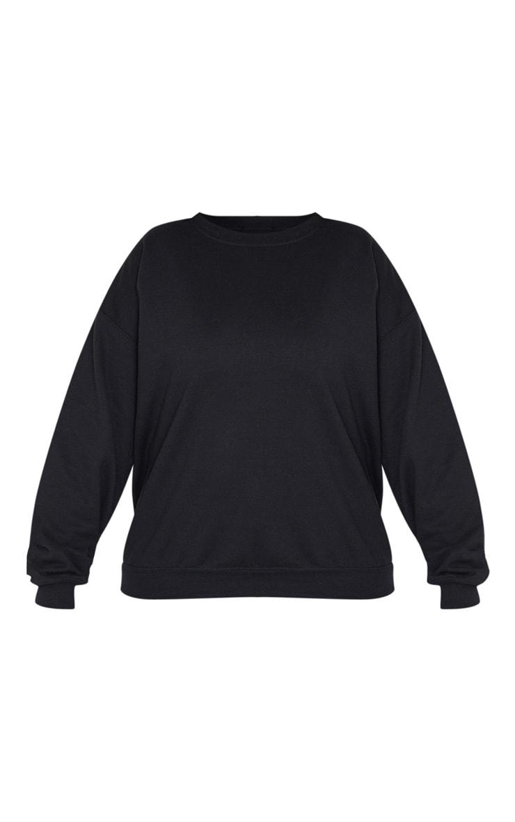 PLT Plus - Sweat noir oversize à imprimé Calabasas 3