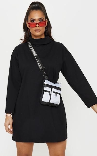 PRETTYLITTLETHING White Contrast Messenger Cross Body Bag