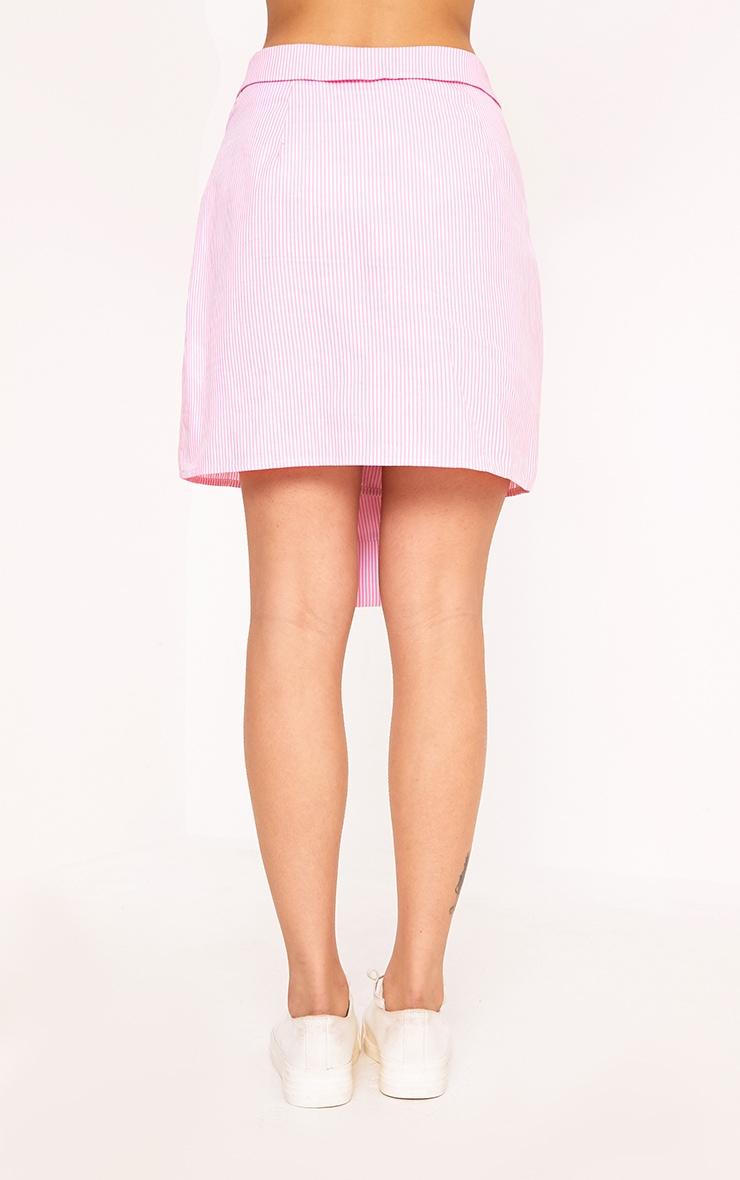 Bia Pink Pinstripe Shirt Skirt 5