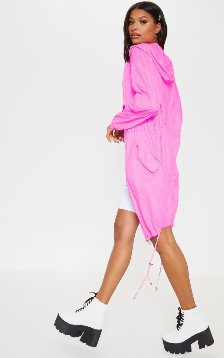 Pink Longline Rainmac 2