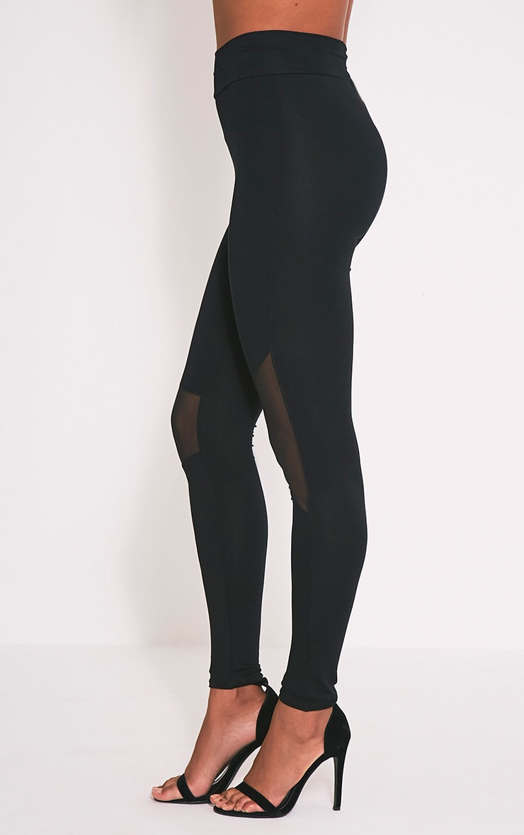 Eliana Black Mesh Insert Leggings 4