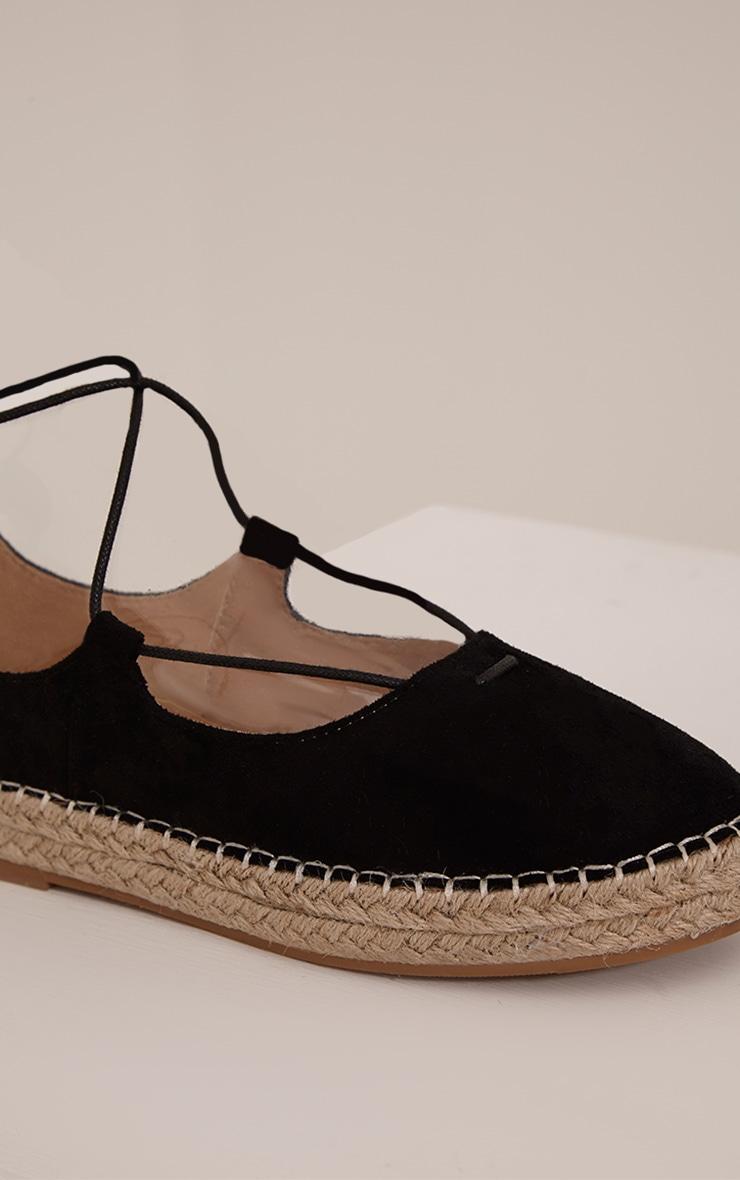 Lani Black Lace Up Espadrilles 5