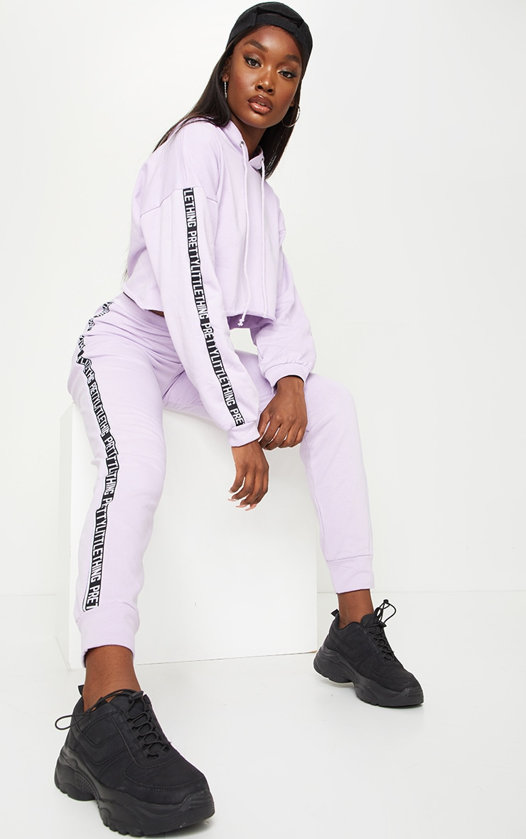 PRETTYLITTLETHING Tall Lilac Joggers 1