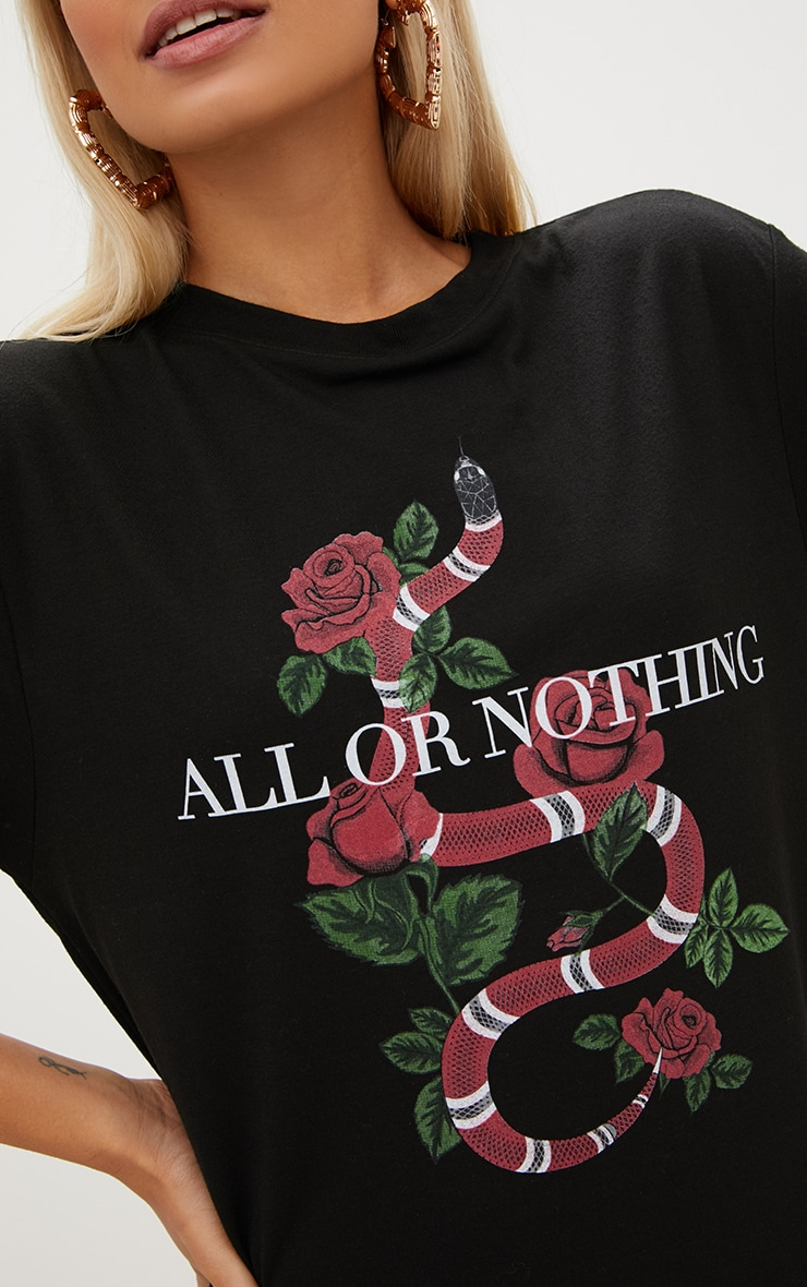 Black All Or Nothing T Shirt Dress 4