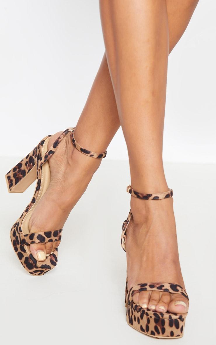 Leopard Platform High Strappy Sandal 2