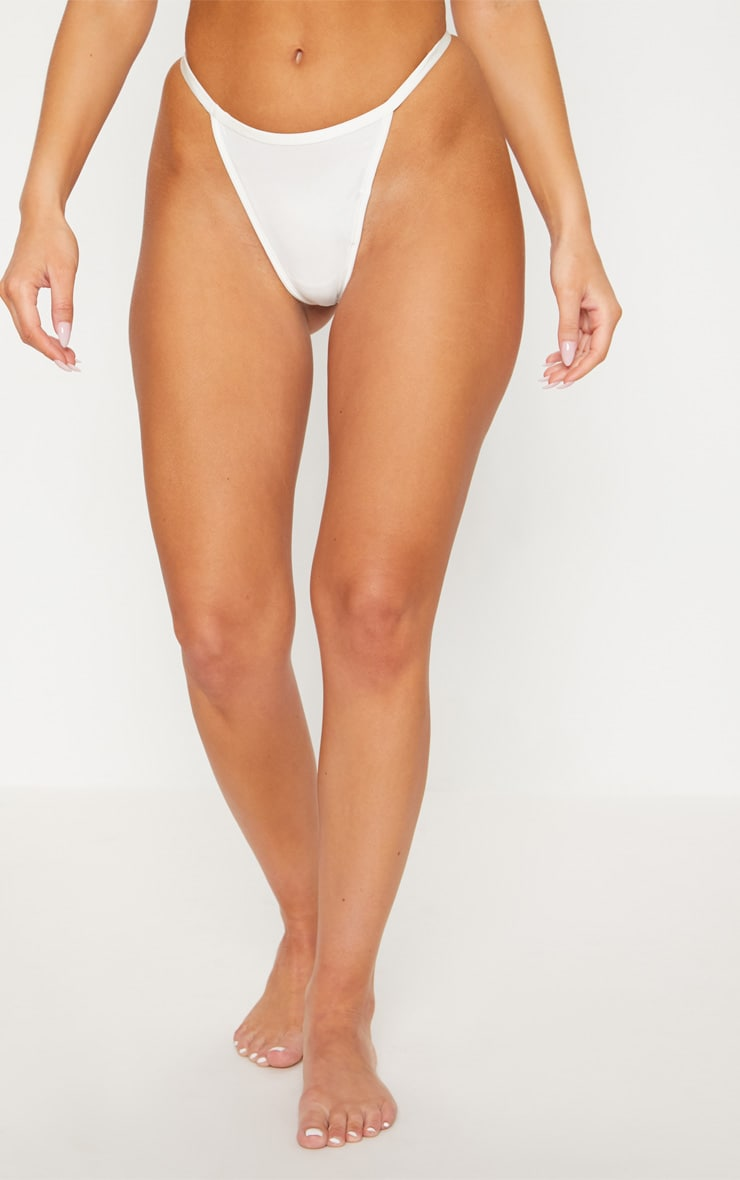 White 3 Pack Soft Touch Thong 2