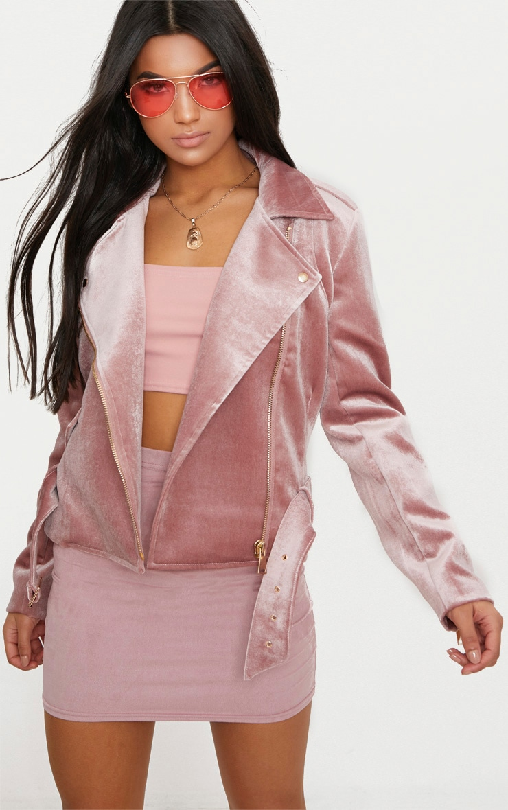 Blank Nyc Vegan Faux Leather Jacket Blush Pink S