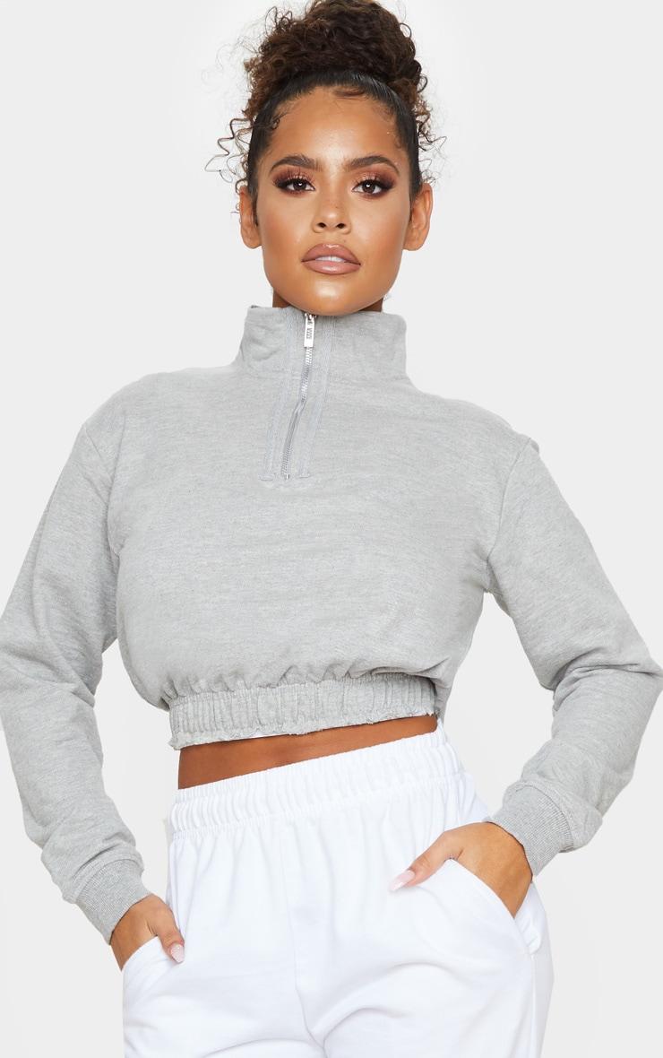 Grey Zip Up Sweatshirt 1