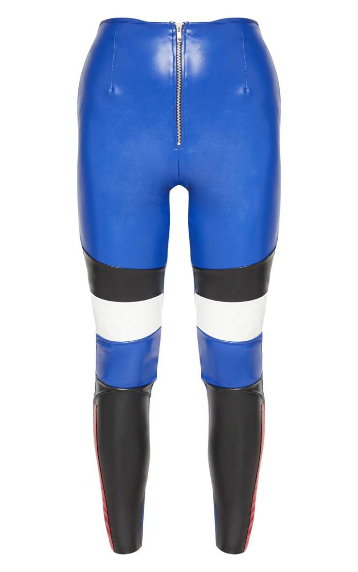 Cobalt Faux Leather Zip Up Front Skinny Trouser 3