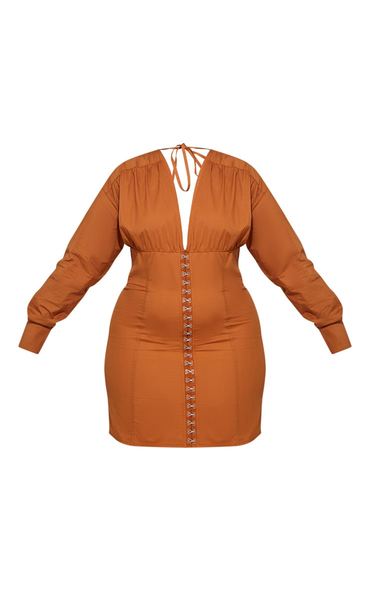 Plus Toffee Corset Detail Bodycon Dress 3