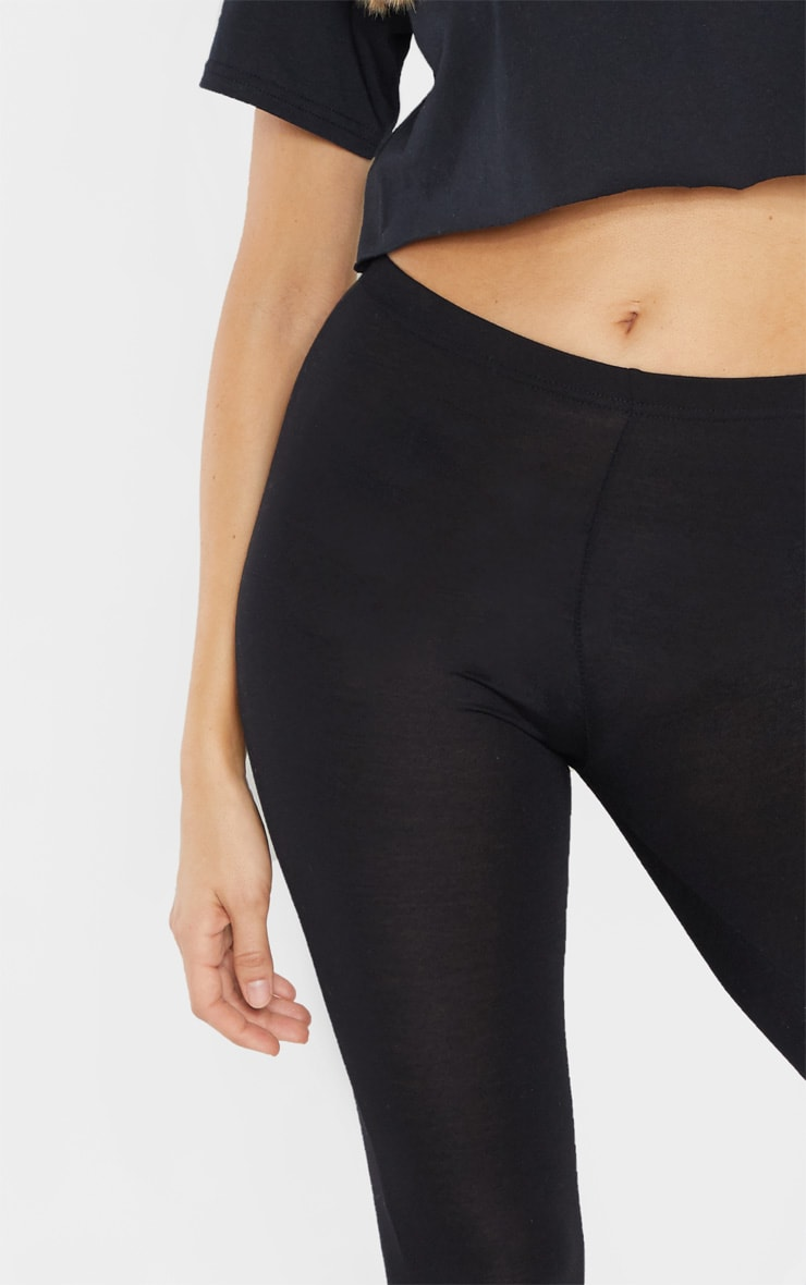 Tall Black  Basic Jersey Leggings  5