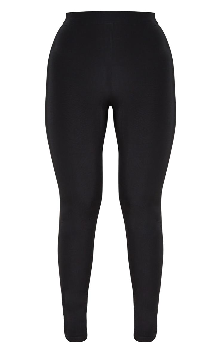 Black Ruched Bum Detail Legging 3