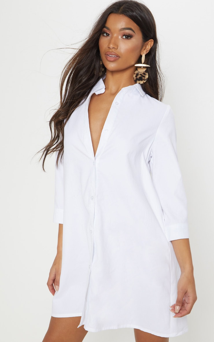 Leni White Shirt Dress 1