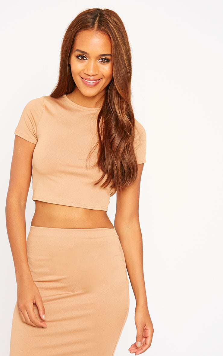 Klarisa Camel Tie Back Top 4