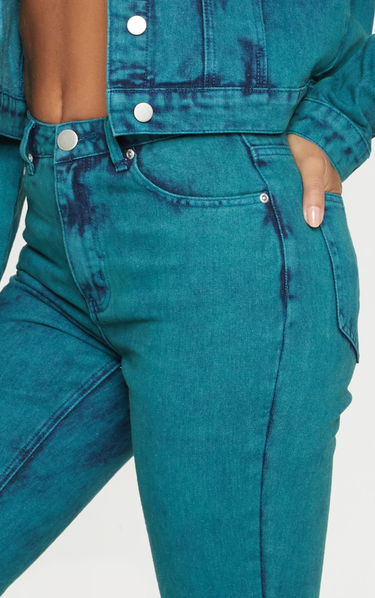 Acid Green Straight Leg Jeans 5