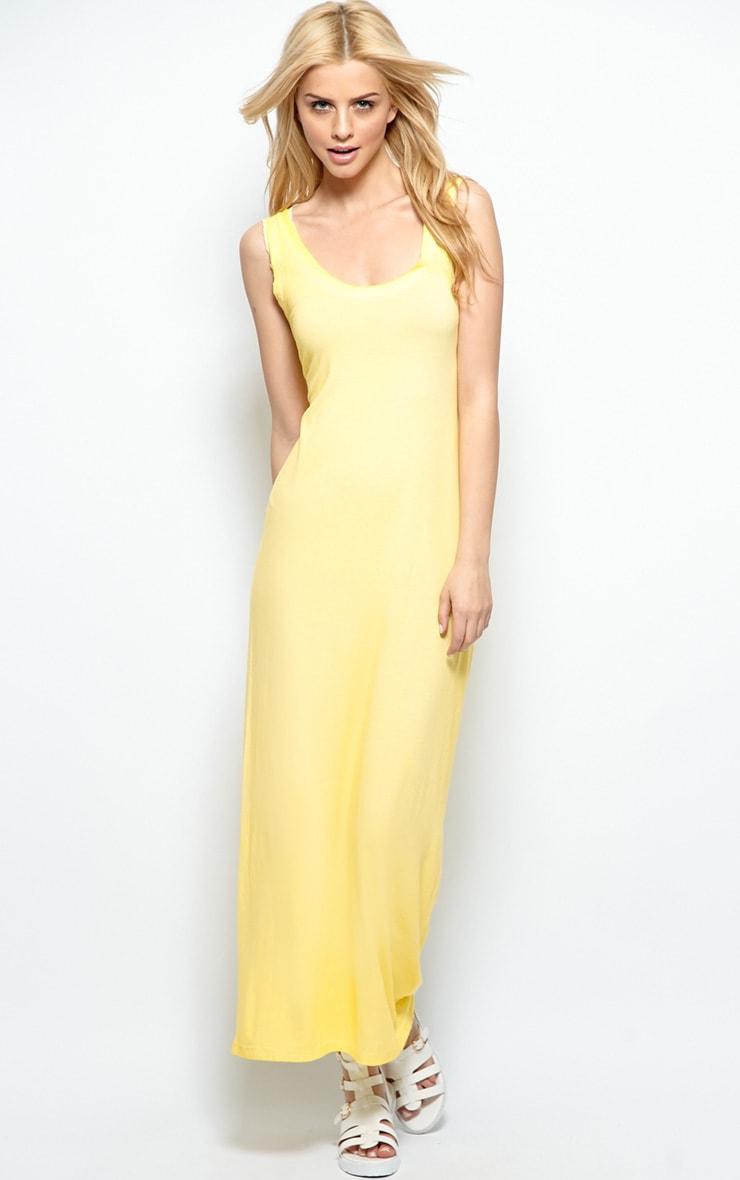Yellow Sleeveless Maxi Dress 4
