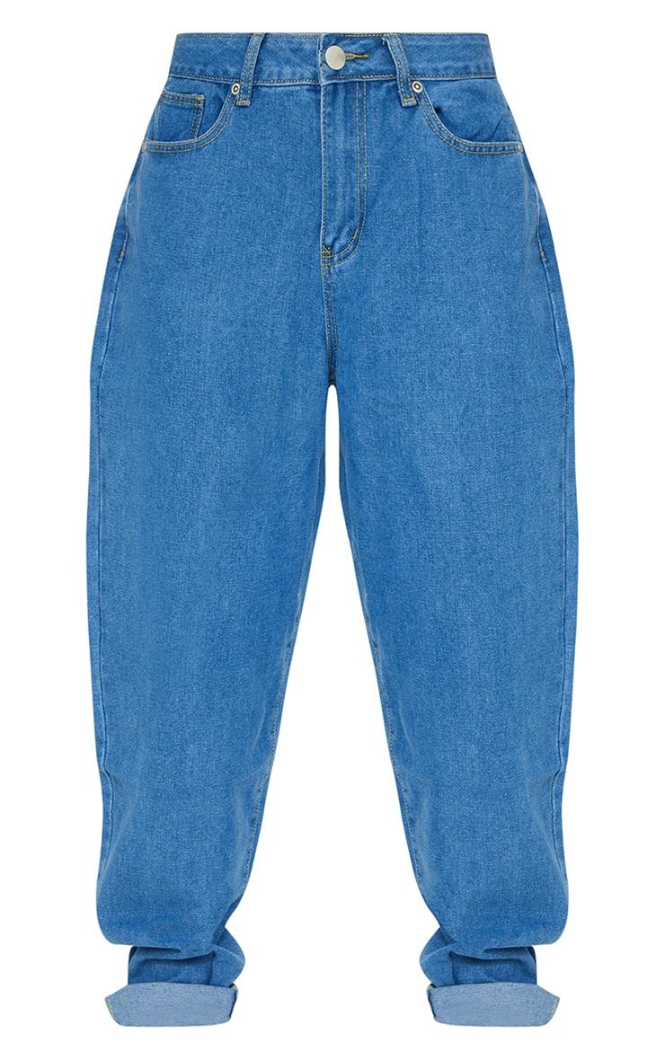 Light Blue Wash Basic Dad Jeans 5