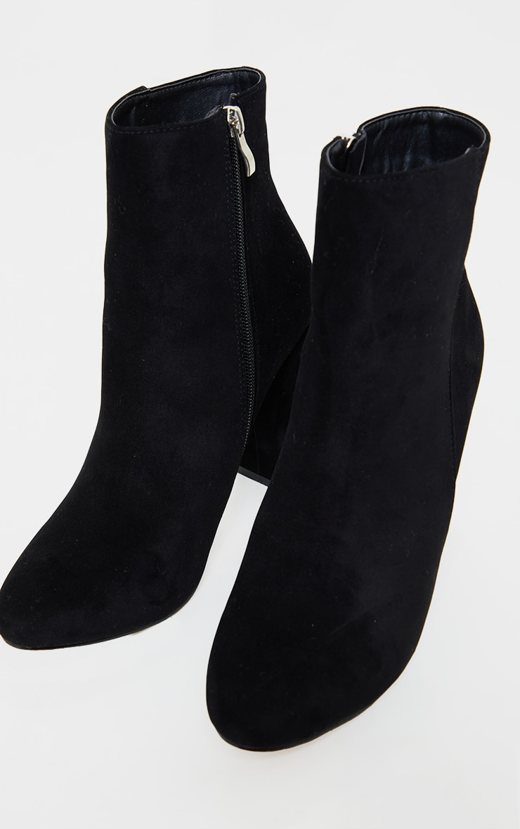 Behati Black Faux Suede Ankle Boots 3