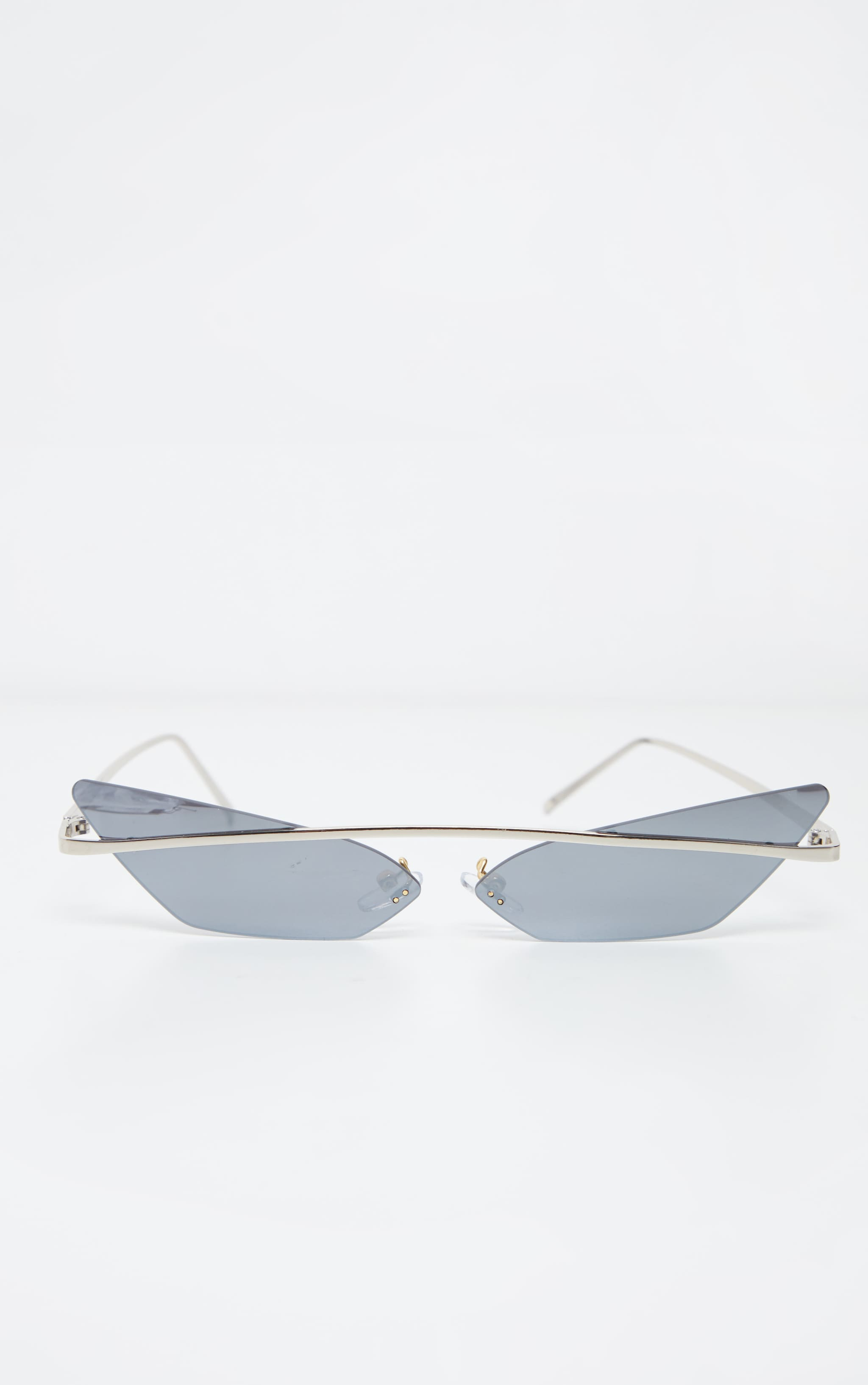 Silver Lens Brow Bar Cat Eye Sunglasses 2