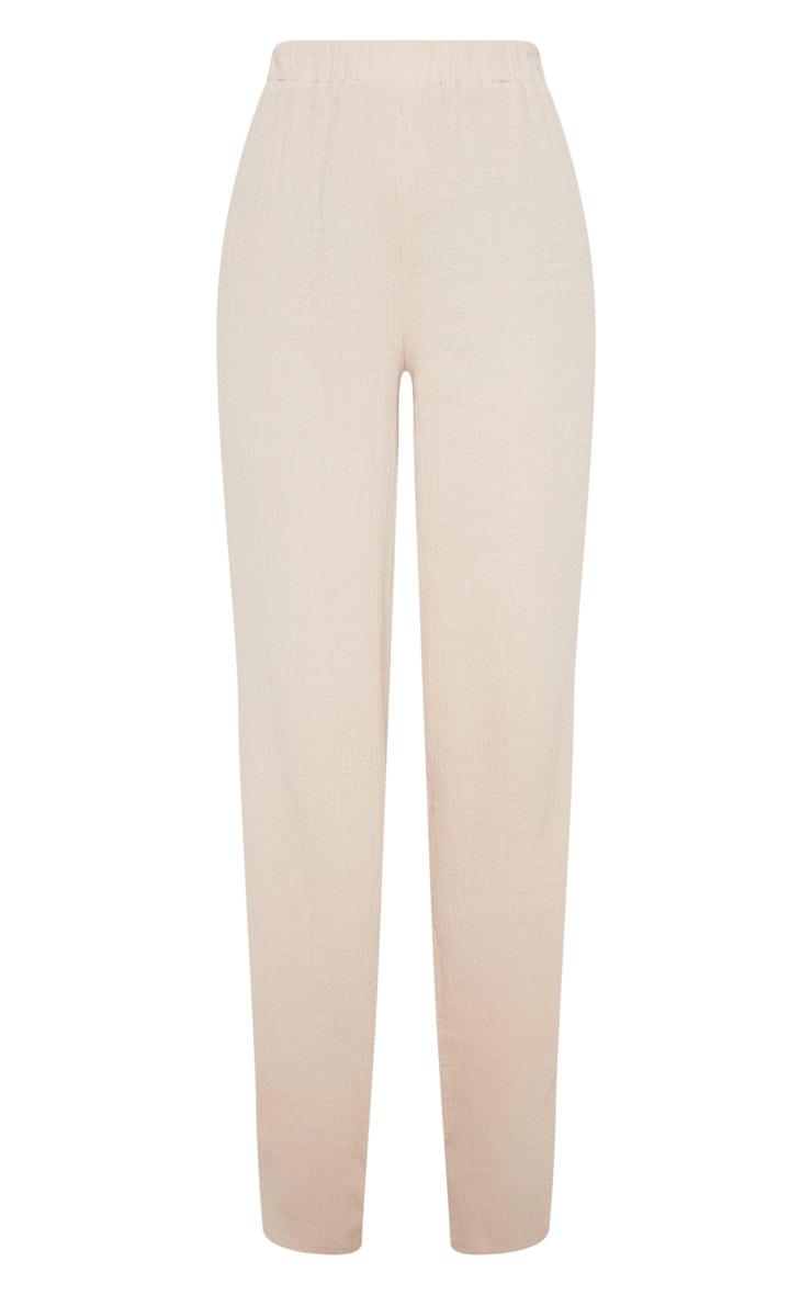 Stone Elasticated Waist Cheesecloth Wide Leg Trouser 3