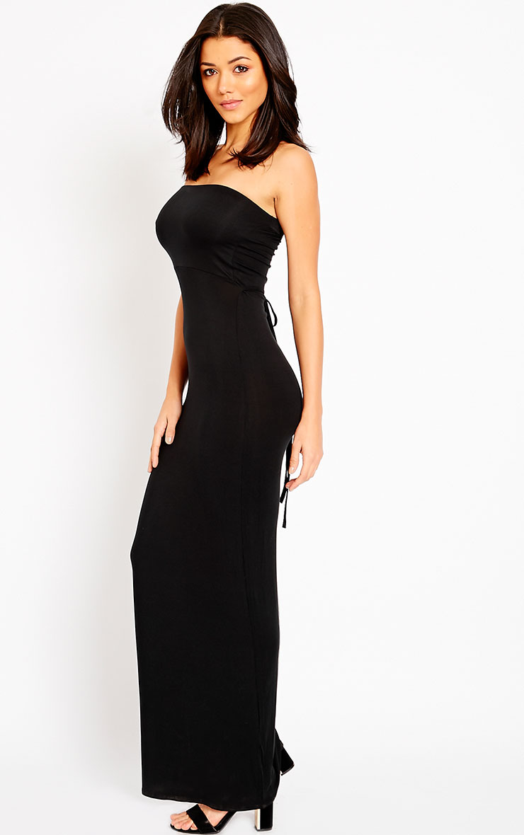 Basic Black Bandeau Maxi Dress 1