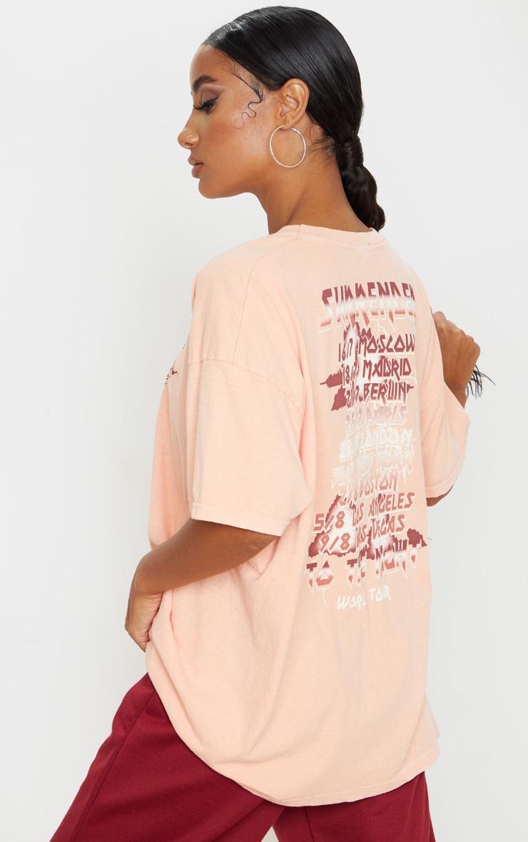 T-shirt orange à slogan Surrender World Tour 2