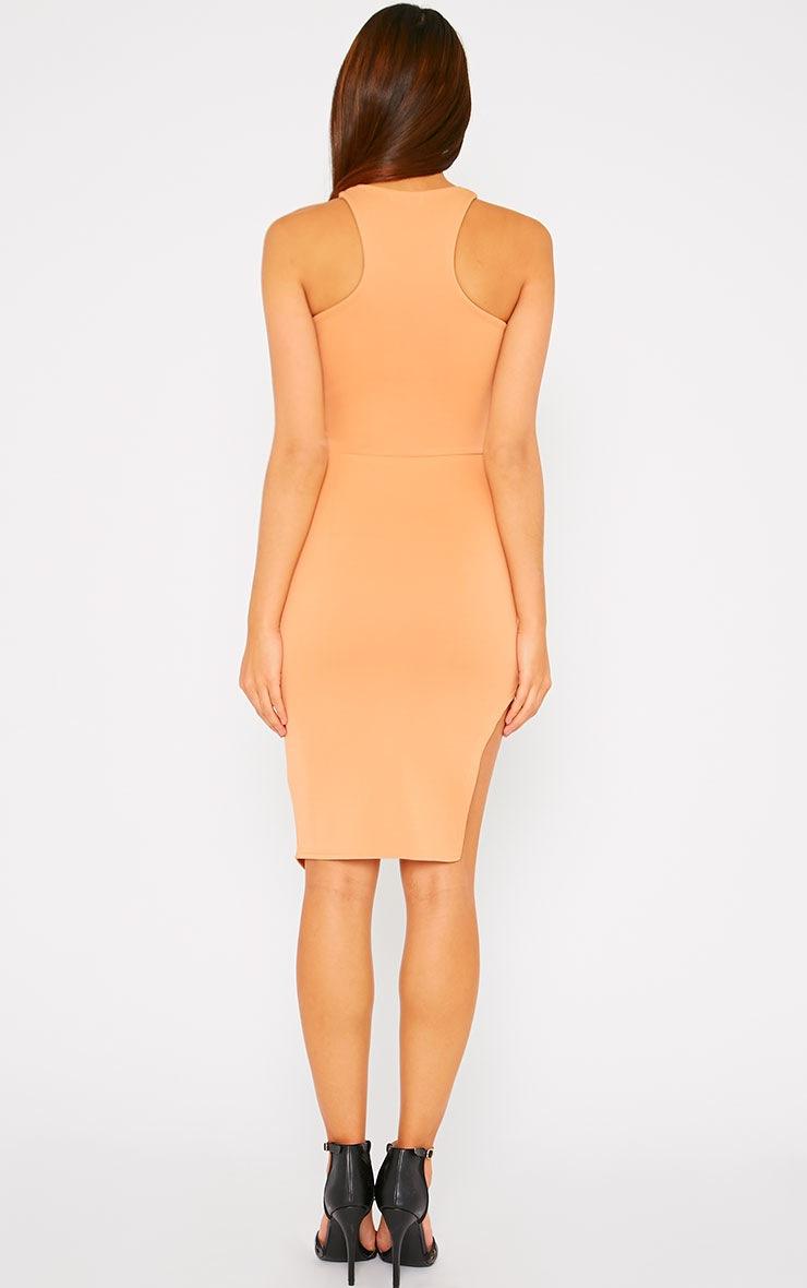 Sydney Camel Cut Out Curve Split Dress 2
