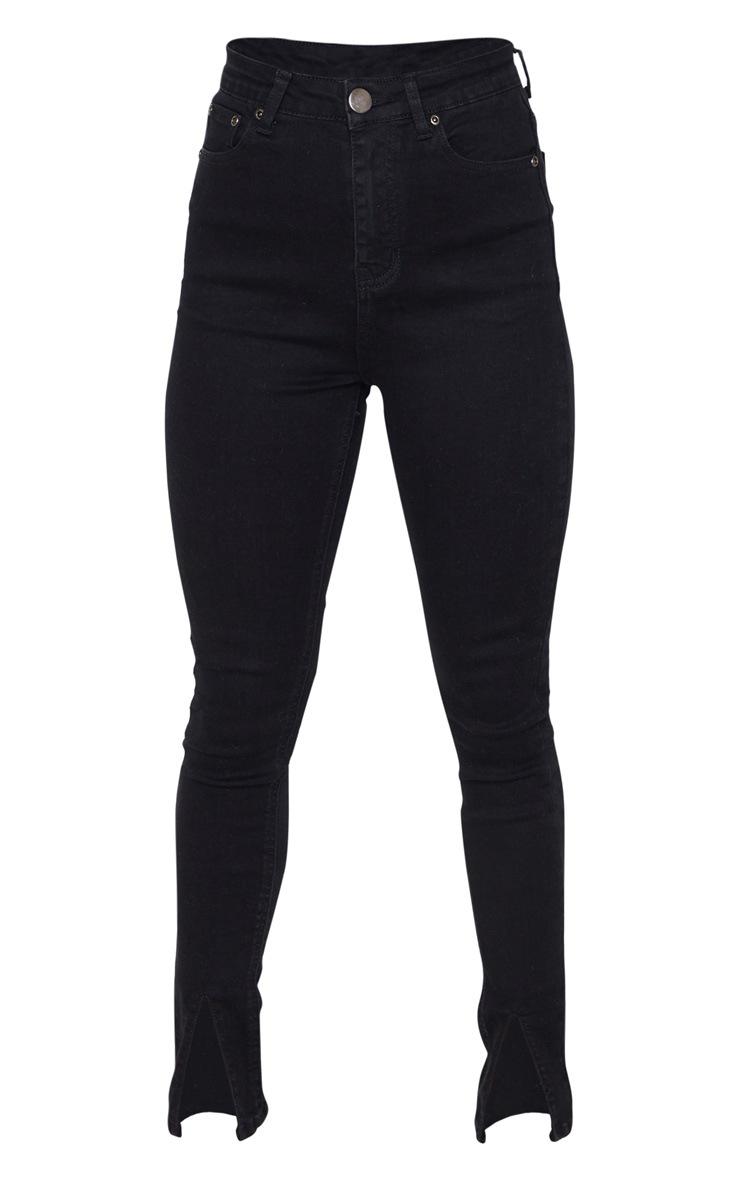 Petite Black Split Front Skinny Jean 3