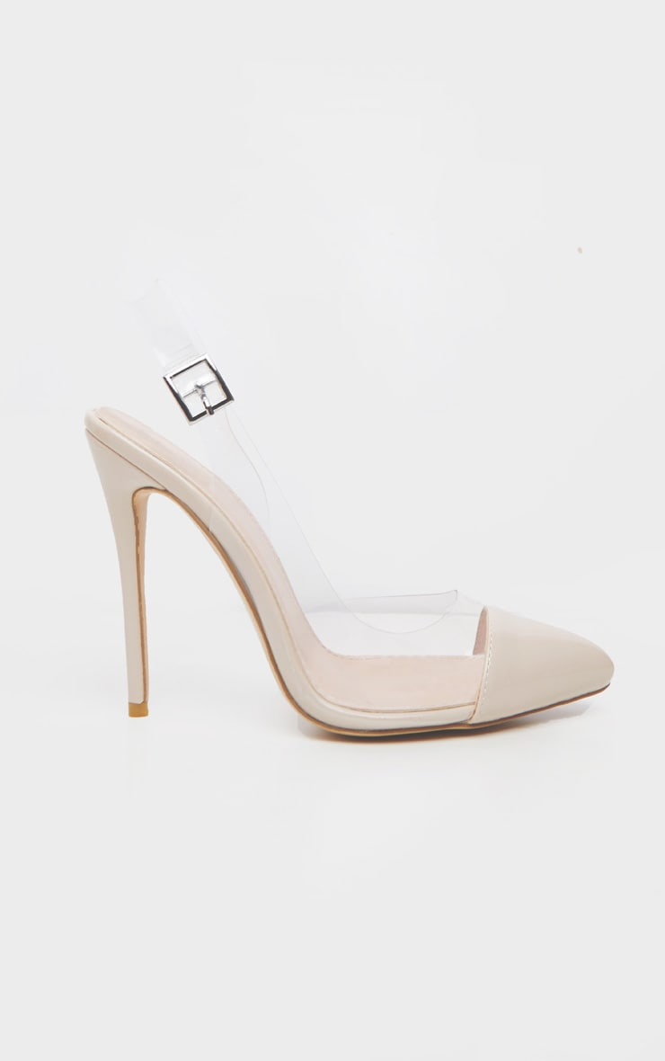 Nude Slingback Clear Court 2
